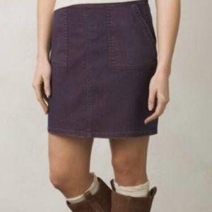 Prana Metallic Purple Denim Skirt